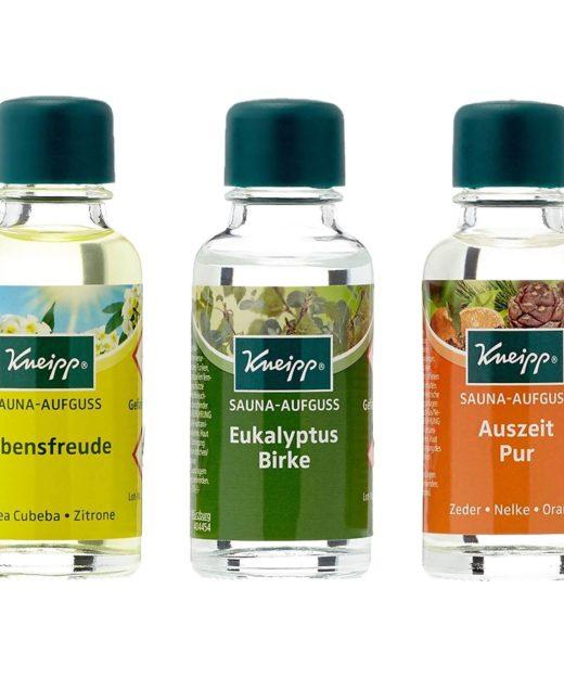 Set di aromi per sauna con Aufguss Kneipp (gettata di vapore)
